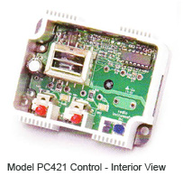 Model PC421 Control - Interior View